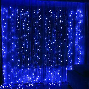 Amazon Com Twinkle Star 300 Led Window Curtain String