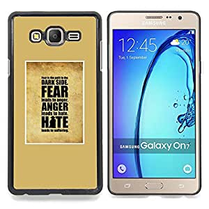 Eason Shop / Premium SLIM PC / Aliminium Casa Carcasa Funda Case Bandera Cover - Enojo Miedo Inspiring Dios - For Samsung Galaxy On7 O7