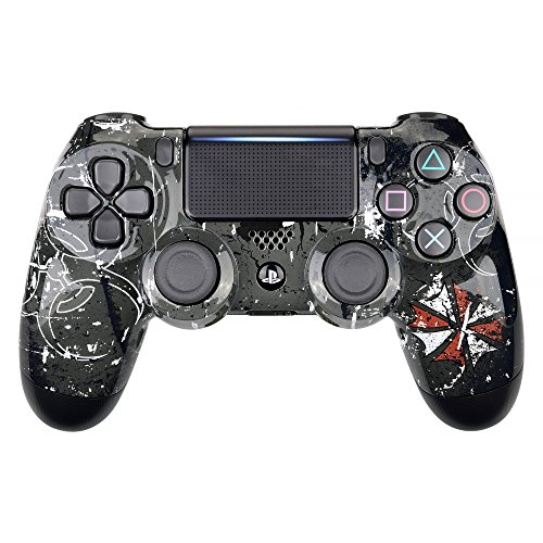 eXtremeRate Biohazard Tyrant Hydro Dipped Front Housing Shell Case, Faceplate Cover Replacement Kit for Playstation 4 PS4 Slim PS4 Pro Controller (CUH-ZCT2 JDM-040 JDM-050 JDM-055)