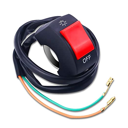 A 12V Universal Motorcycle Scooter LED Headlight Switch Headlamp On Off Switch with Indicator 12V Handlebar Mounting Switch Button