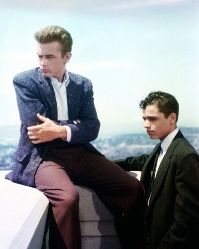 Rebel Without a Cause James Dean Sal Mineo at Griffith Park Observatory 16x20 Poster