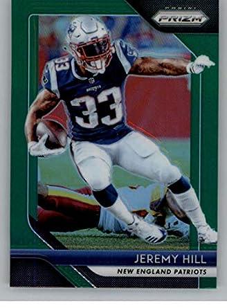 2018 Panini Prizm Prizm Green Football  75 Jeremy Hill New England Patriots  Official NFL Trading 5f9b5b094