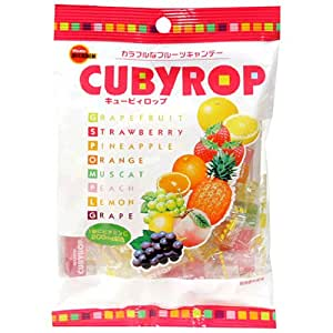 Bourbon Japanese Candy, Cuby Rop Assorted Fruit, 4.22-Ounce Bags (Pack of 10)