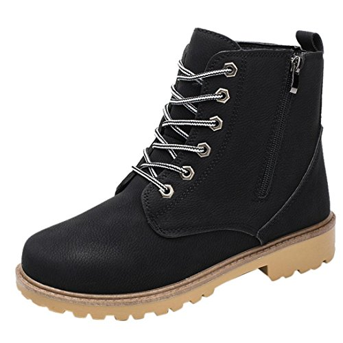 Price comparison product image Men Chukka Boot - Side Zipper Ankle Booties - Faux Lether Winter Snow Boots Shoes (Black,  42 / US:8.5)