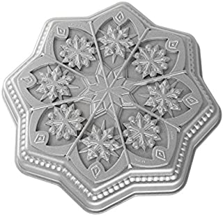product image for Nordic Ware Sweet Snowflakes Shortbread Pan, Silver