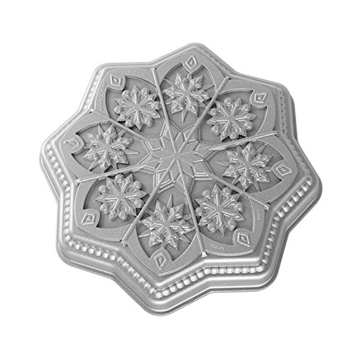 Nordic Ware Sweet Snowflakes Shortbread Pan, Silver Deal (Large Image)