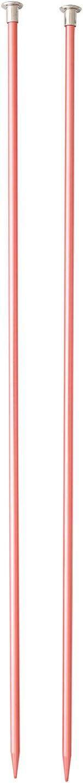 Boye 3216328007WA Anodized Aluminum Knitting Needles Colored Pink 14 US 7 4.5 mm