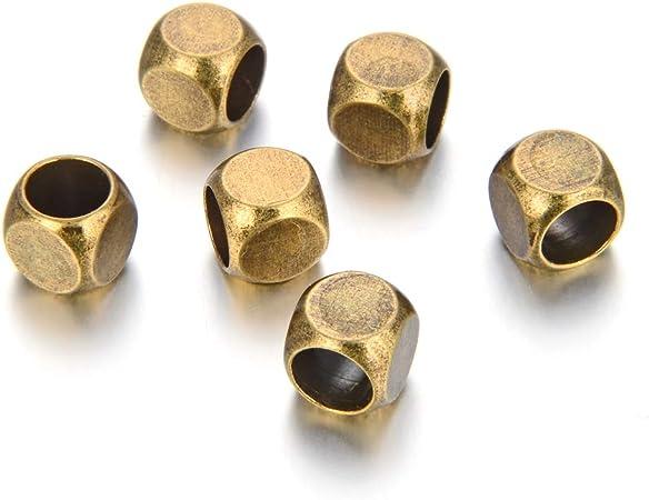 8 Pcs Spacer Metal  Beads Antique Bronze Colour 5 mm