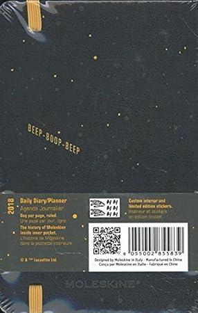Diario de bolsillo 2018 Moleskine de Star Wars, edición limitada BB-8, 12 meses de duración
