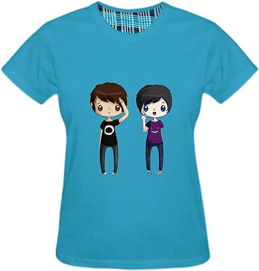 Mens Top Summer T Shirt Cyan/_Blue,Small