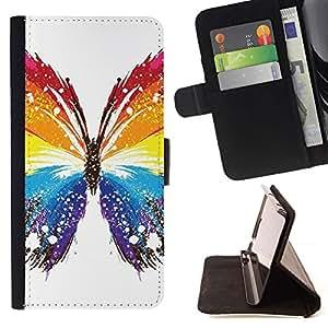 Momo Phone Case / Flip Funda de Cuero Case Cover - Mariposa Colores;;;;;;;; - Sony Xperia Z2 D6502