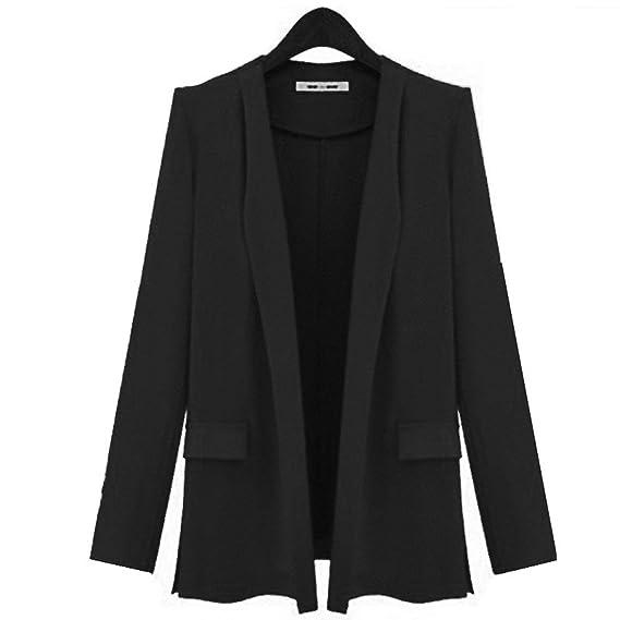 b8d0c401022 Veste Femme Affaires Automne Costume De Loisirs Unicolore Manches Longues  Basic Revers Bouffant Manteau De Bonne Qualité Vêtements D Extérieur  Vetement ...