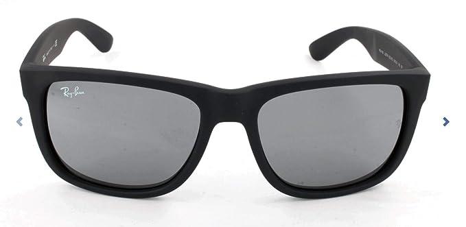 Rayban Justin RB4165 - Gafas de sol Unisex, Negro (Gris 622/6G), 55 mm