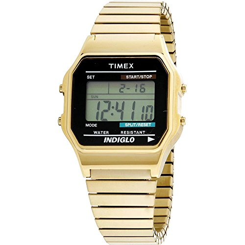 Timex Gold Coloured Digital Indiglo Watch (991581800) -  915/8180