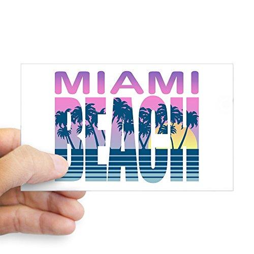 CafePress Miami Beach Rectangle Sticker Rectangle Bumper Sticker Car Decal