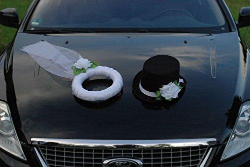 Amazon De Autoschmuck Schleier Und Hut Braut Paar Rose Dekoration
