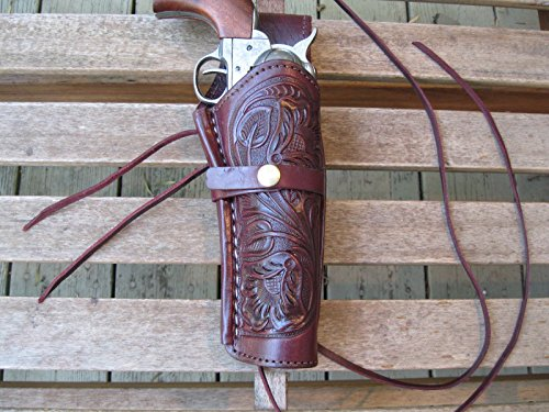 Western Gun Holster - Burgundy - Right Handed - for .22 Caliber single action revolver - Size 6