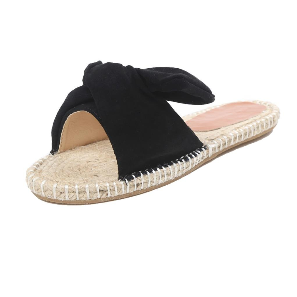 Womail Women Summer Bow Slippers Bohemia Leisure Sandals for Girl