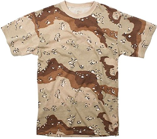 New Desert Camouflage Chocolate Chip Tactical Military Short Sleeve T-Shirt