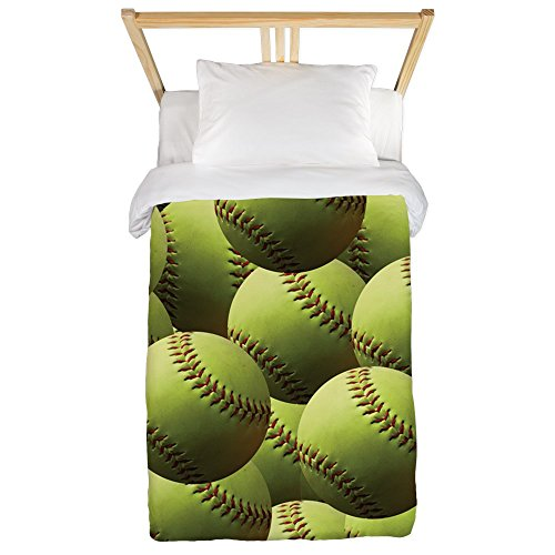 CafePress - Softball Wallpaper Twin Duvet - Twin Duvet Cover, Printed Comforter Cover, Unique Bedding, Microfiber