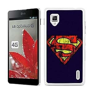 Funda carcasa para LG Optimus G diseño Superman fondo azul superhéroe borde blanco