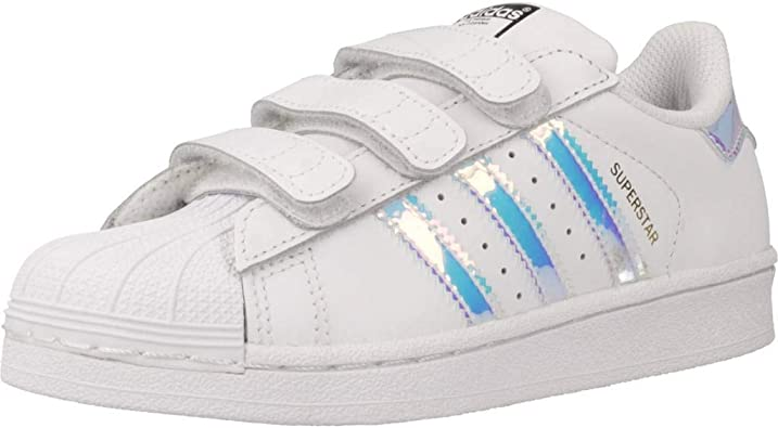 raro gramática Hueso  Amazon.com | adidas Originals Superstar CF C White/Iridescent Leather  Infant US 11 | Sneakers