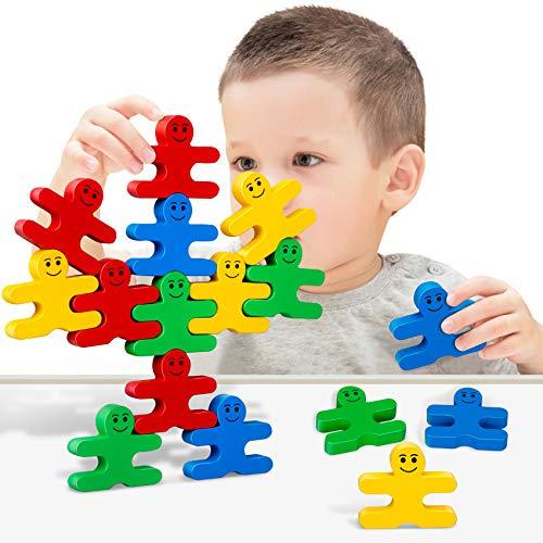 GIFT4KIDS Balance Villain Blocks Montessori Toys for Toddlers,Education for Fine Motor Skills – Sorting & Matching