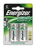 Energizer Recharge Power Plus Rechargeable C Batteries, 2 Pack
