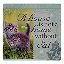 Kitchen Towels 011830029 A House is Not A Home without A Cat 32 Authentic Sentiment Tea Towel
