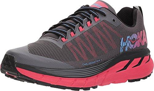 Hoka One 1018295-BAZL: Women Challenger ATR 4 Black/Azalea Sneakers (7.5 B(M) US Women)