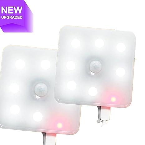 PIR sensor de movimiento luz okpow nueva generación USB Batería magnético Sensor de pared armario de