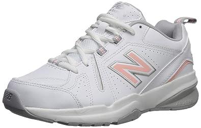 f8f19cc000 New Balance Women's 608v5 Casual Comfort Cross Trainer, White/Pink, ...