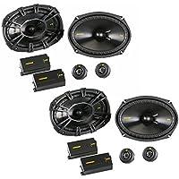 Kicker CS Series 6x9 Component Speakers 40CSS694 Bundle