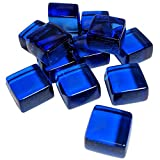 Midwest Hearth Cube Fire Pit Glass 1/2'' Squares 10-Pounds (Sapphire Blue)