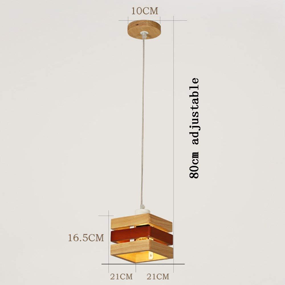 FJTXC Energiesparender Kronleuchter, Pendelleuchte Ursprüngliche neutrale Log Holz Kunst Kronleuchter Restaurant 3 Stirnlampen Effizienz  A +++