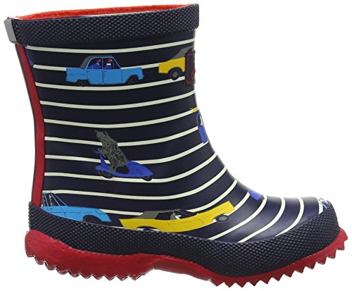 Joules Baby Welly - Patucos de Caucho para niño Black Multi Bear Camo Blue (Unicorn)