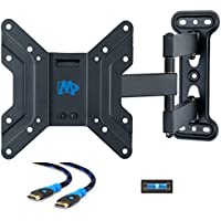 "Mounting Dream MD2413-S Full Motion TV Wall Mount Bracket with Articulating Arms, 60 Lbs Loading Capacity, Fits Most of 17-39 Inches LED, LCD TV with Max VESA 200 x 200mm, 18.8"" Extension"