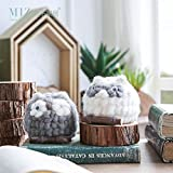 MIZ 1 Piece Animal Figure Toy for Children Crochet Owl Small Ornament for Home Decoration Handmade Accessories