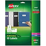 Avery Removable 1 x 2 5/8 Inch White ID Labels 750 Count (6460)