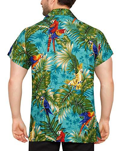 Casual Floreale Cubana Uomo Fit Hawaiana A Verde Slim Camicia Corte Club Classica Da Maniche 0qSSw