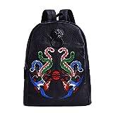 MM Vintage Memory University Daypack Rucksack Clear Hip Hop Unisex Backpack