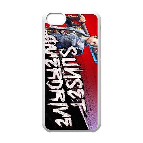 Sunset Overdrive 11 coque iPhone 5c cellulaire cas coque de téléphone cas blanche couverture de téléphone portable EEECBCAAN05713