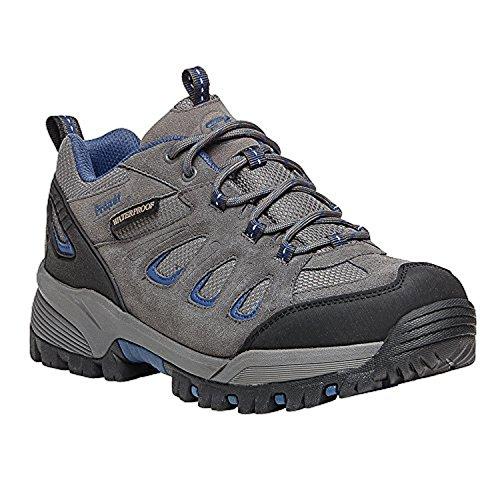 Propet Hombres Ridge Walker Low Bota & Oxy Cleaner Bundle Gris / Azul