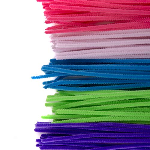 Horizon Group USA Pastel Bendi Sticks, Pipe Cleaners, Chenille Stems, Fuzzy Sticks 200 Pack , Multicolor