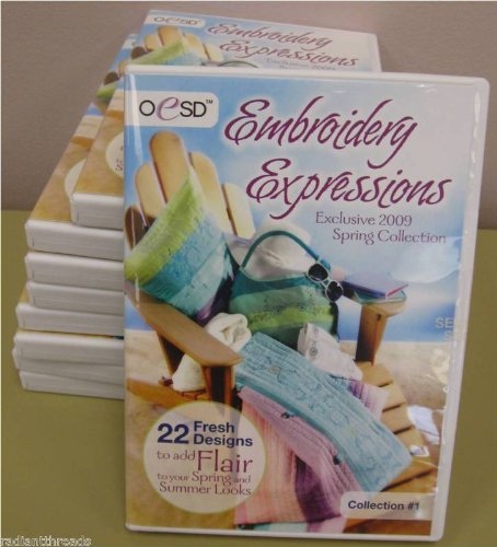 OESD Embroidery Expressions Spring 2009 Collection CD