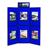 Quartet SB93516Q Show-It! Display System, 72 x 72, Blue/Gray Surface, Black Frame