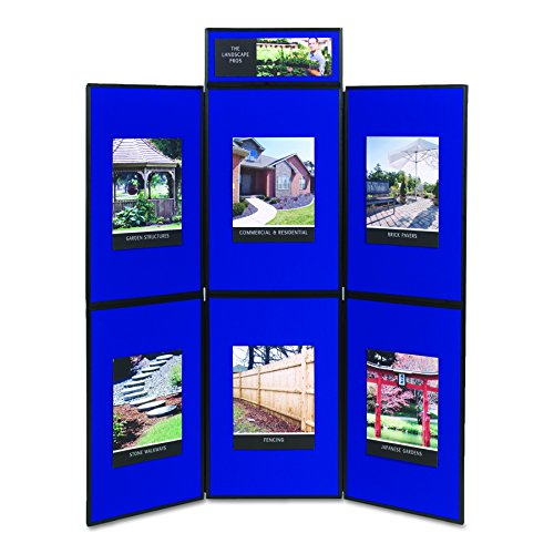 Quartet SB93516Q Show-It! Display System, 72 x 72, Blue/Gray Surface, Black Frame by Apollo