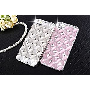 LU2000 Pink Cats Eye Stone Opal Crystals Diamond Sparkle Bedazzled Jeweled Bling Phone Hard Case for Iphone 6 Plus (5.5 inch) - Pink