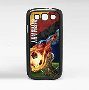 Yellow, Red, and Black Germany Fan Art with Colorful Fiery Soccer Ball Hard Snap on Phone Case (Galaxy s3 III)
