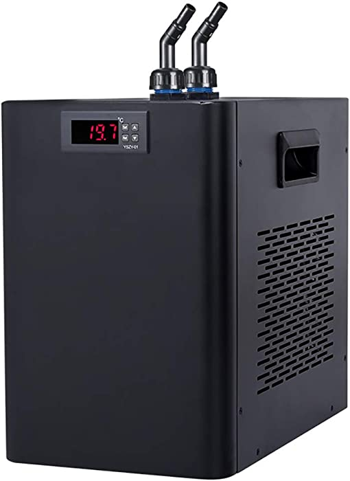 BAOSHISHAN Aquarium Water Chiller 42gal Fish Tank Cooling System 1/10 HP Special Quiet Design Refrigeration Compressor for Waterweeds Jellyfish Coral Crystal Shrimp (160L,42gal)